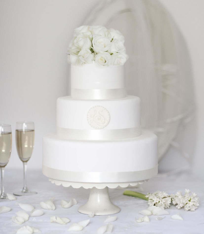 Wedding Cakes On Line  Round Monogram Buy line Wedding Cake