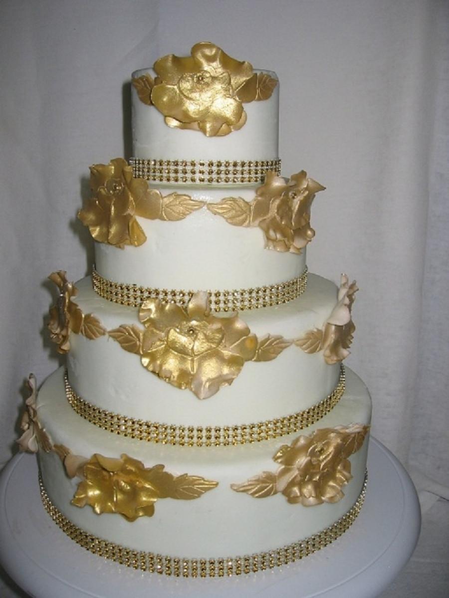 Wedding Cakes Ontario California  Gold Rose Wedding Cake Oakville tario By Cakes2Go