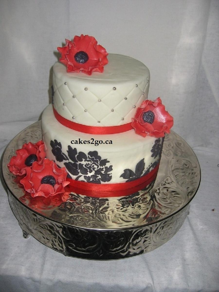 Wedding Cakes Ontario California  Red Anemone Flower Wedding Cake Oakville tario By