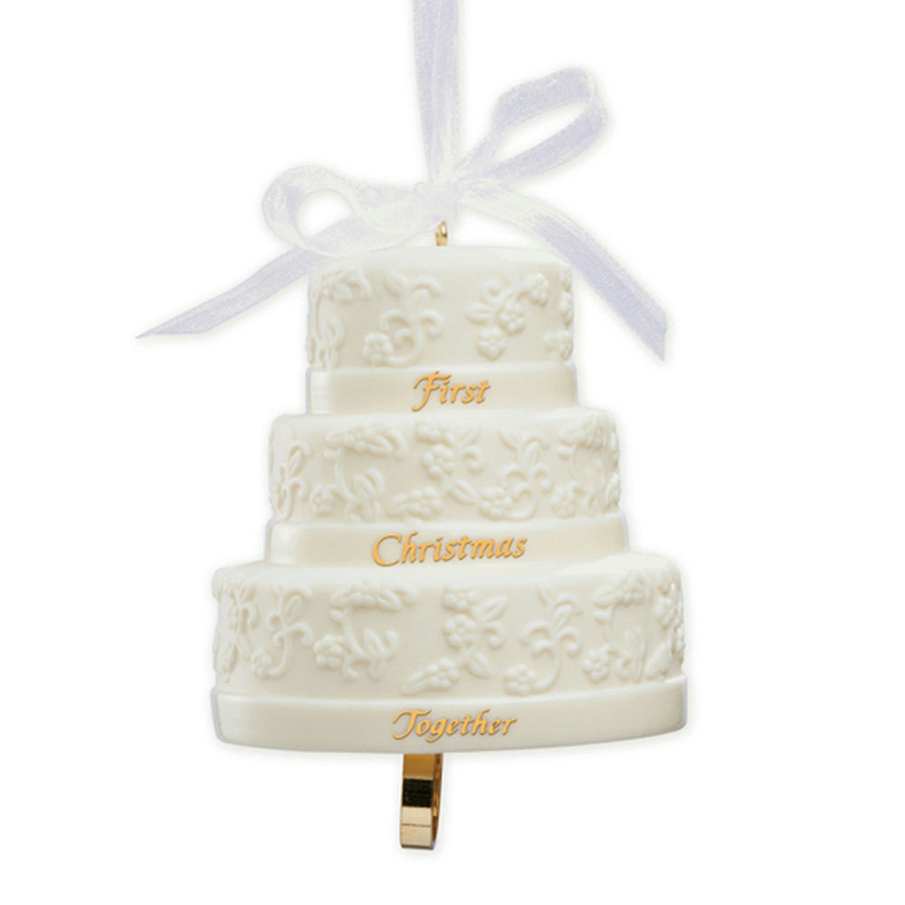 Wedding Cakes Ornaments  Carlton Ornament 2013 First Christmas To her Porcelain