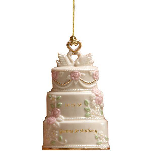 Wedding Cakes Ornaments  Celebration Love Wedding Cake Ornament