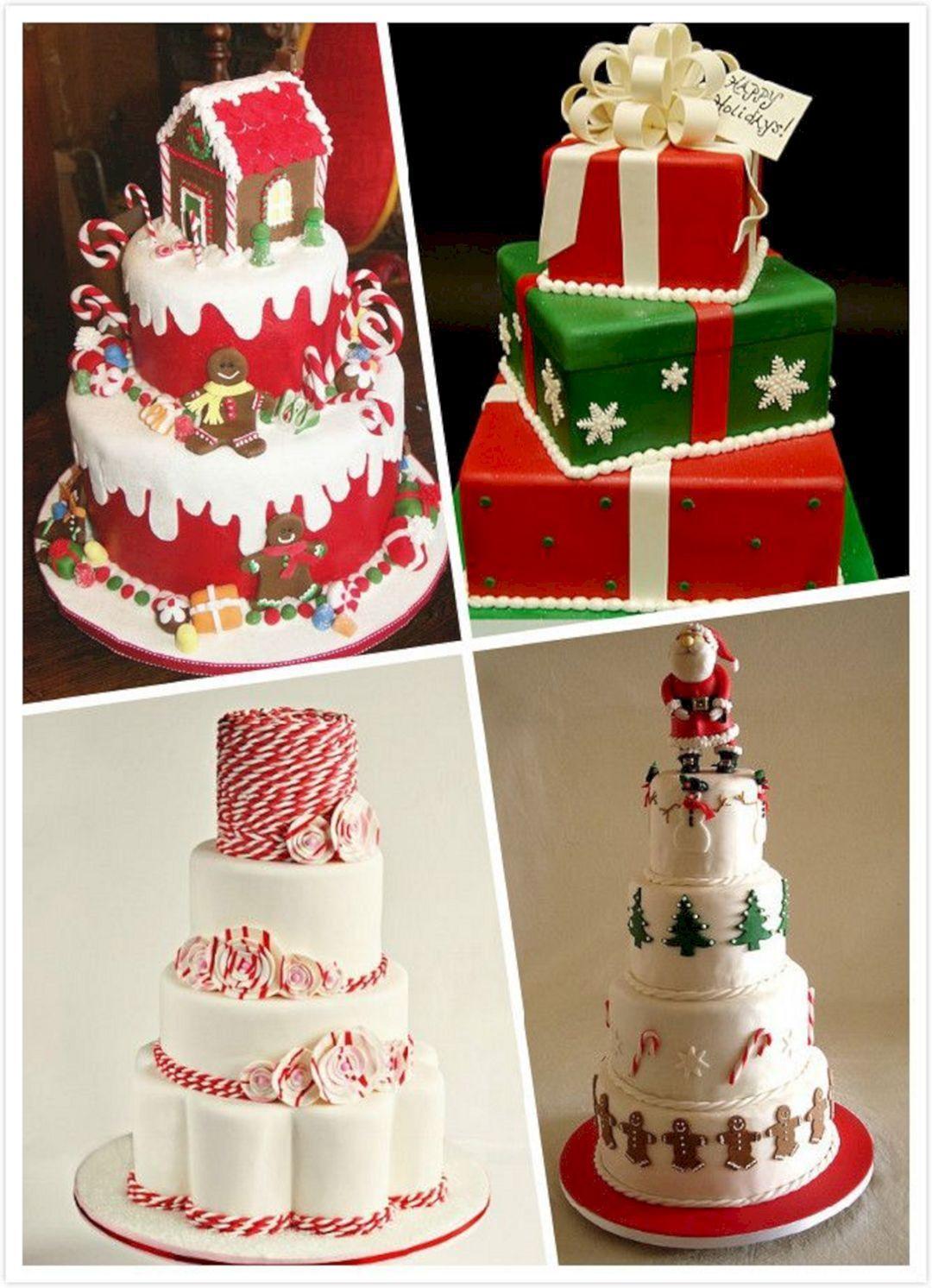 Wedding Cakes Ornaments  Christmas themed Wedding Cake – OOSILE
