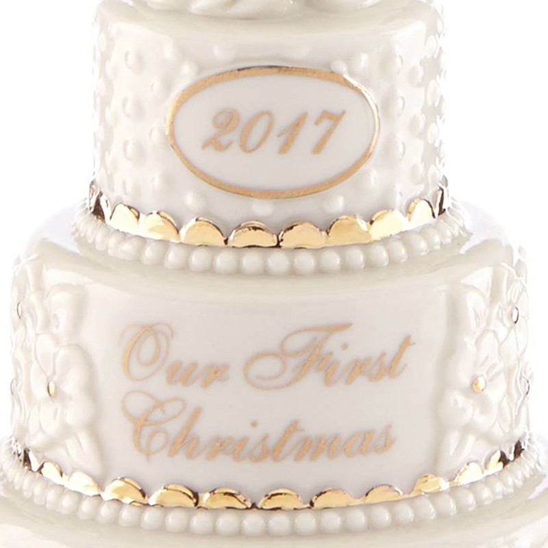 Wedding Cakes Ornaments  Our First Christmas Ornament 2017 Wedding Cake