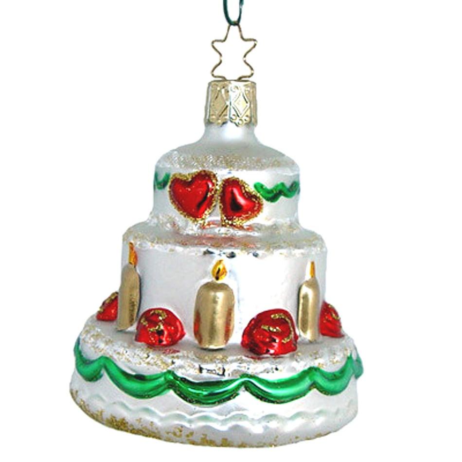 Wedding Cakes Ornaments  Wedding Cake Christmas Ornament Inge Glas of Germany