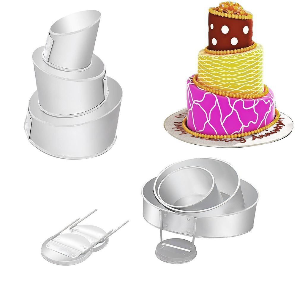 Wedding Cakes Pans  Mini Topsy Turvy 4 Tier Multilayer Wedding cake pans