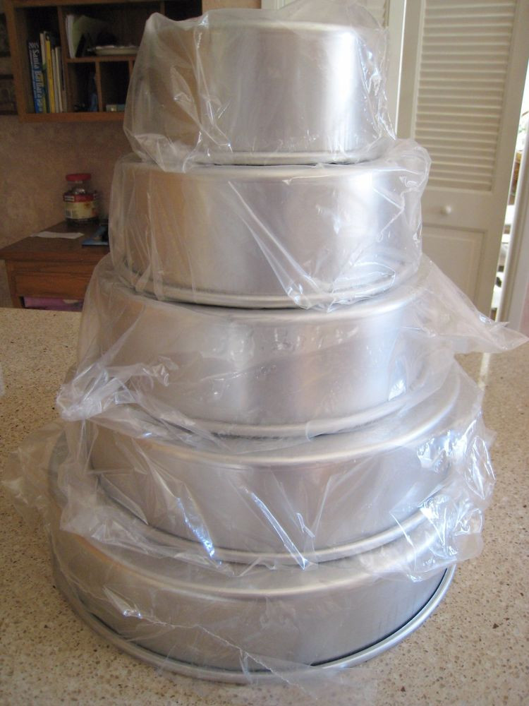 "Wedding Cakes Pans  Magic Line 3"" Round Professional Wedding Tier Cake Pans 6"