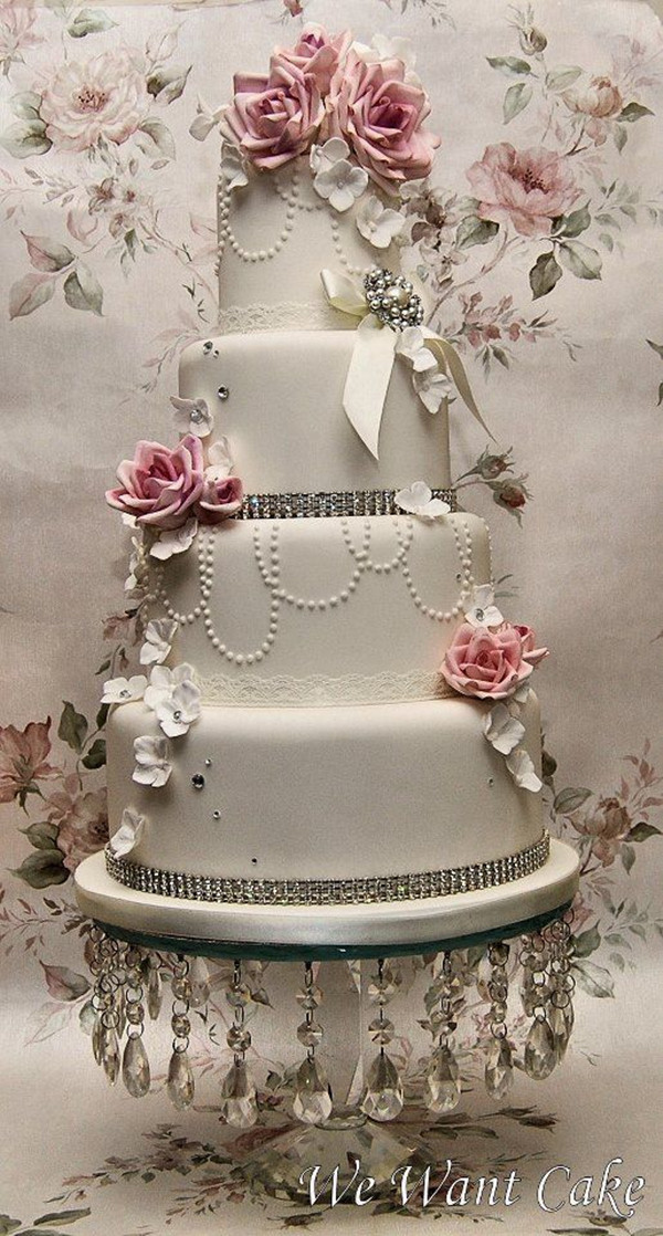 Wedding Cakes Pearls  25 Fabulous Wedding Cake Ideas With Pearls
