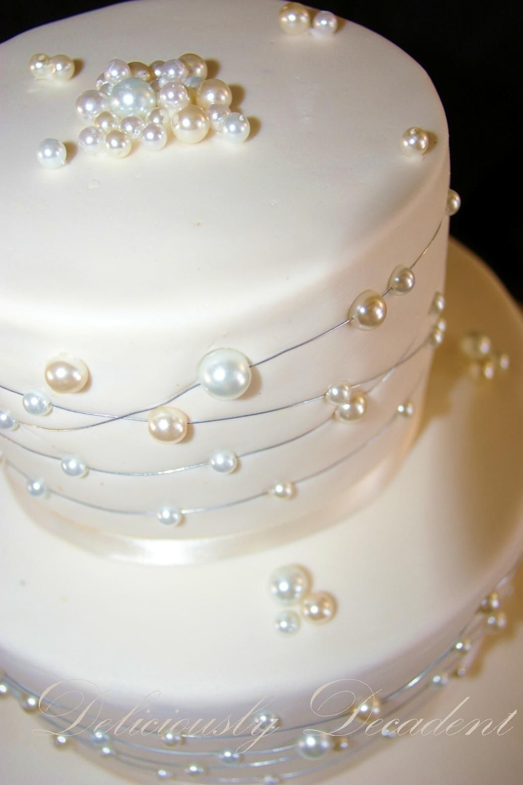 Wedding Cakes Pearls  The Baby Pearl CakeCentral