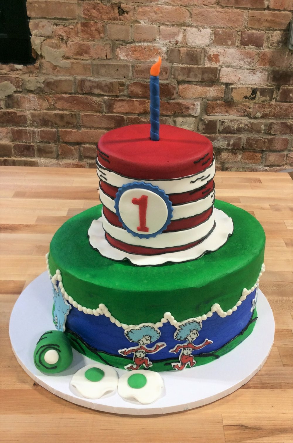 Wedding Cakes Peoria Il  Dr Seuss Party Cake — Trefzger s Bakery