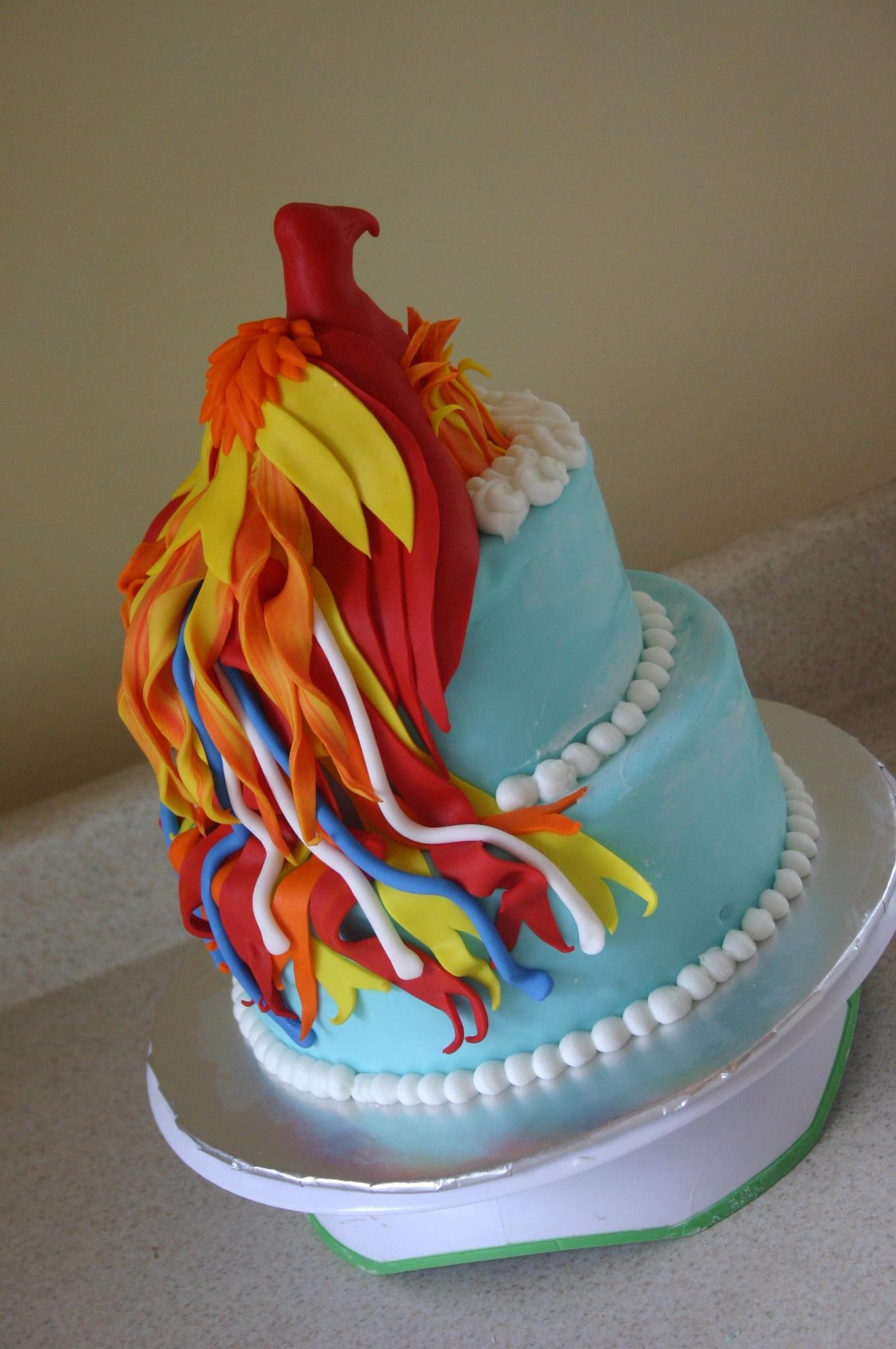 Wedding Cakes Phoenix  Phoenix firebird birthday cake