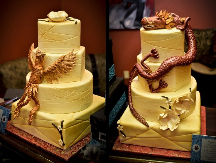 Wedding Cakes Phoenix  18 best images about Dragon and Phoenix Cake Inspiration