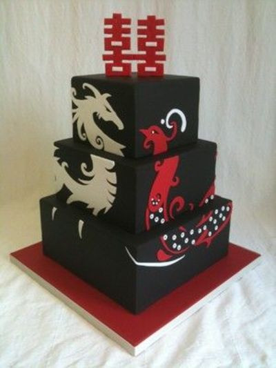 Wedding Cakes Phoenix  Dragon & Phoenix Wedding Cake wedding cakes Juxtapost