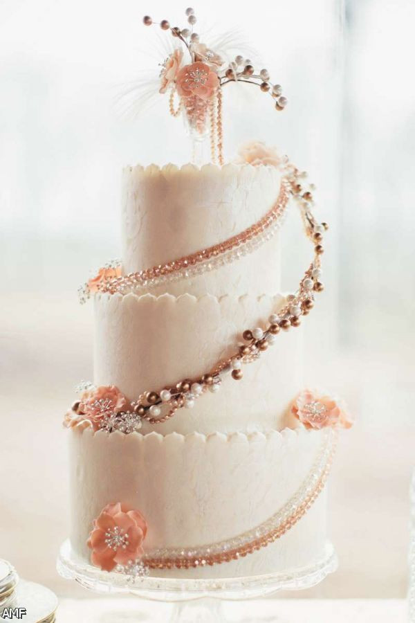 Wedding Cakes Pictures 2016  Blush And Gold Wedding Cake 2015 2016