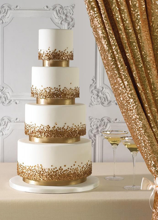 Wedding Cakes Pictures 2016  Top 22 Glittery Gold Wedding Cakes for 2016 trends