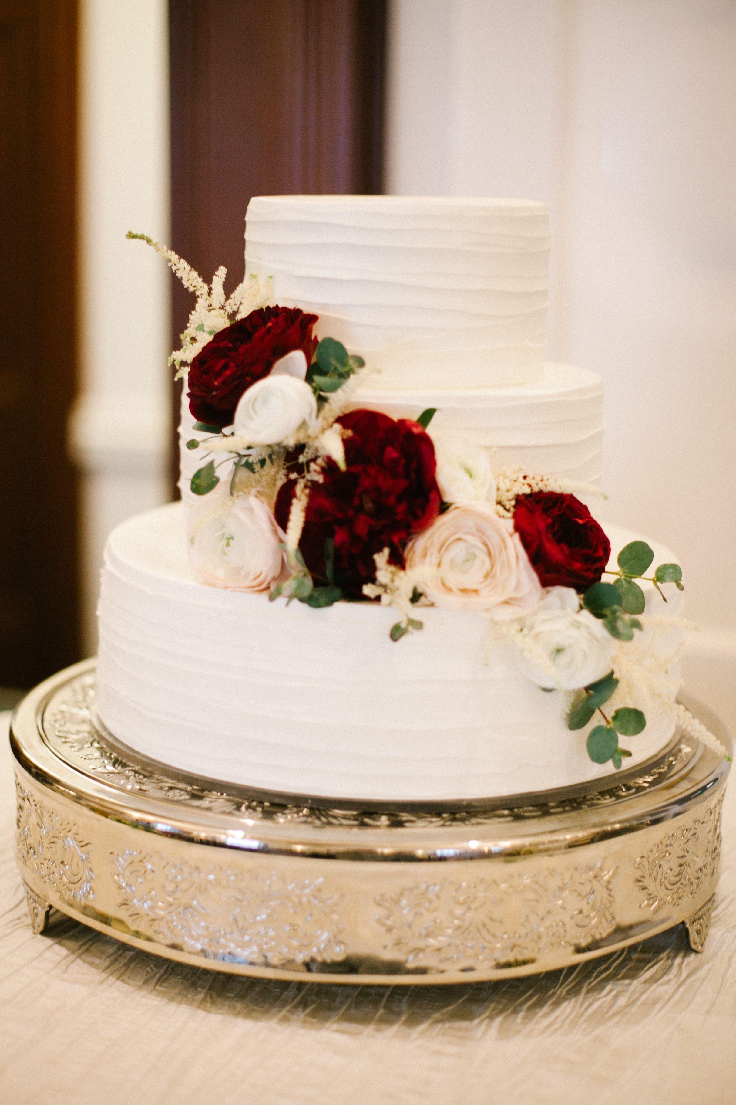 Wedding Cakes Pictures Pinterest  Pinterest alex ramey Wedding cake with flowers Marsala