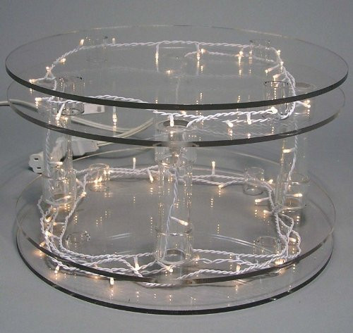 Wedding Cakes Plates  Custom Sizes Available Crystal Clear Acrylic Cake Stands