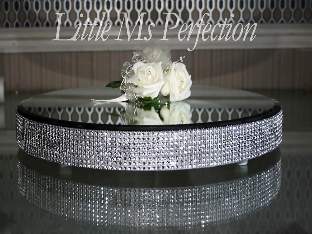 Wedding Cakes Plates  DIAMANTE CRYSTAL MIRROR PLATE CAKE STAND WEDDING TABLE