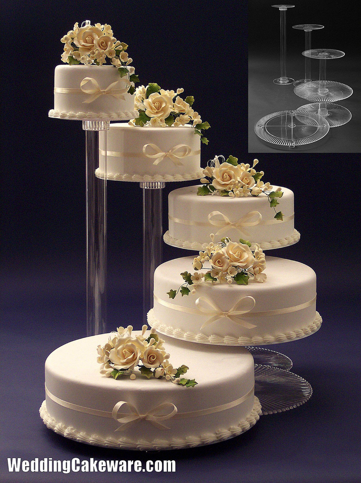 Wedding Cakes Plates  Tiered wedding cake stands idea in 2017