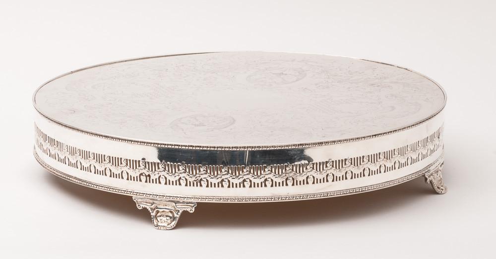 "Wedding Cakes Plates  Wedding Cake Stand Round Base Silver Plate 16"" [40 64 cm"