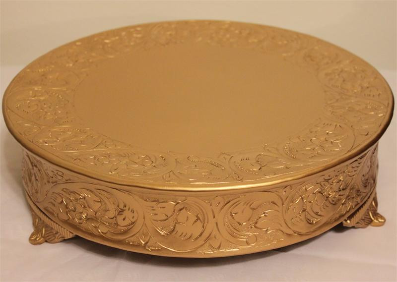 Wedding Cakes Plates  Gold Wedding Cake Stand Wedding and Bridal Inspiration