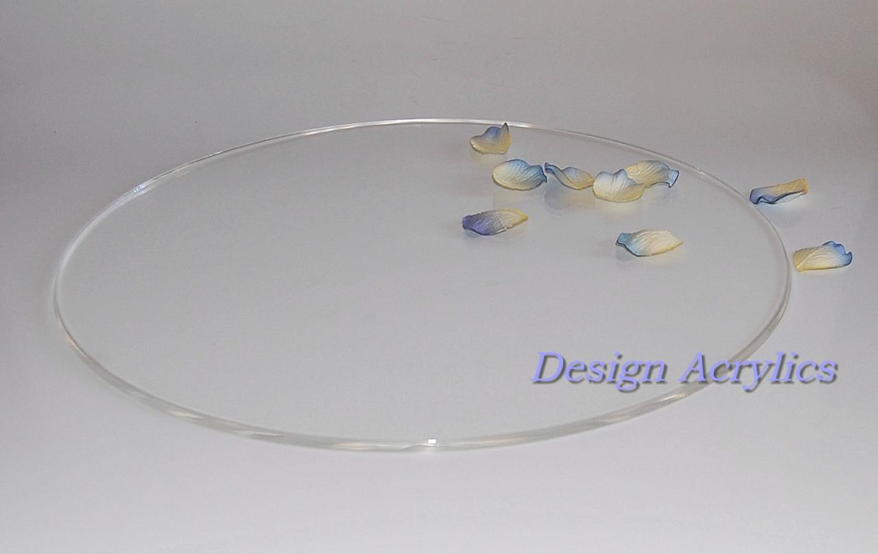 """Wedding Cakes Plates  20"""" ROUND ACRYLIC WEDDING CAKE PLATE BOARD STAND CLEAR"""