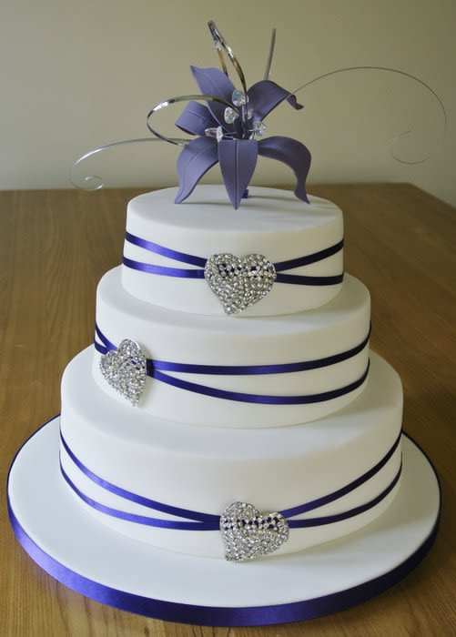Wedding Cakes Purple And White  Purple & white Wedding cake Cake by baguio CakesDecor
