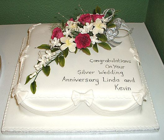 Wedding Cakes Quotes  silver anniversary cake