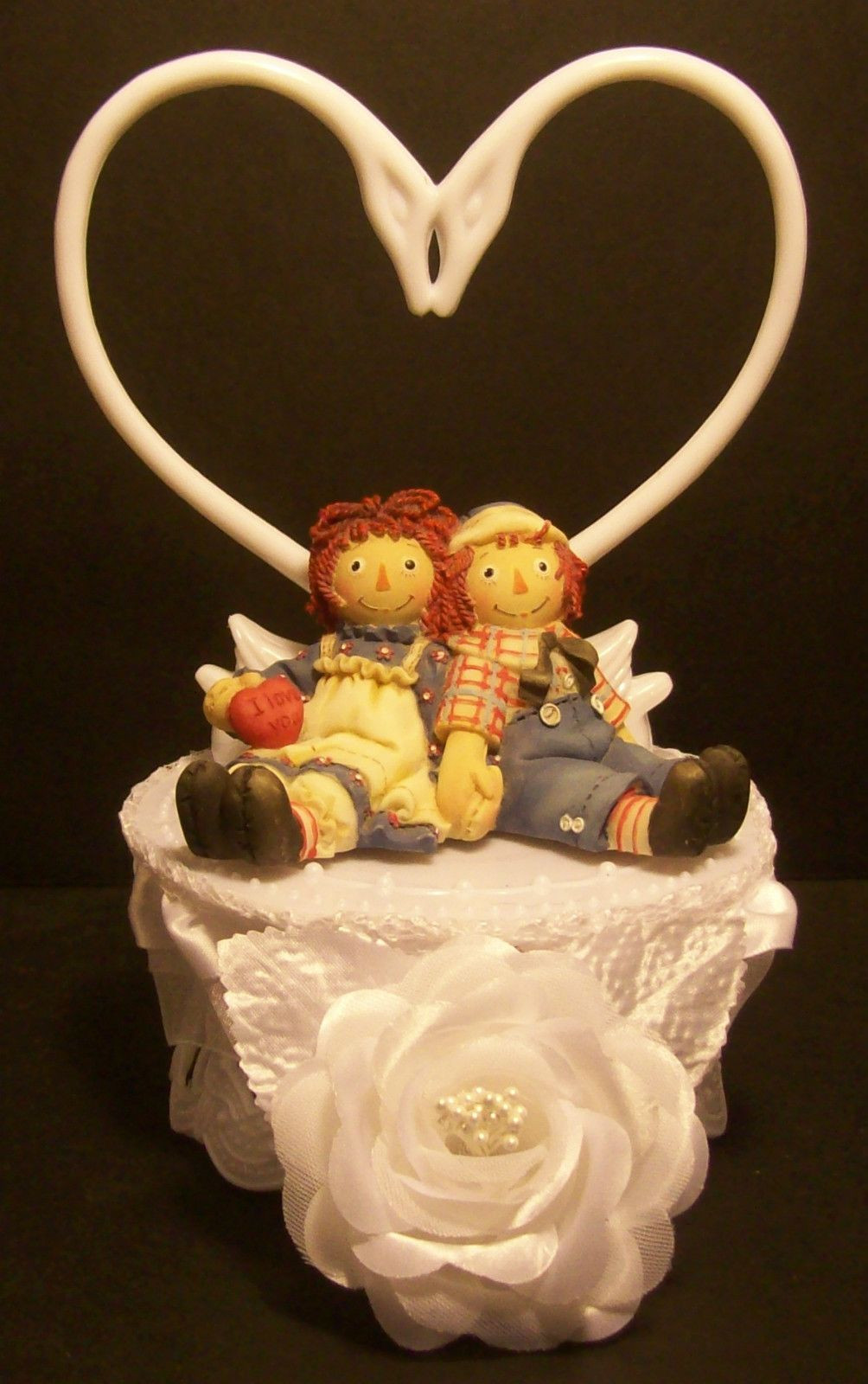 Wedding Cakes Rapid City Sd  RAGGEDY ANN & ANDY BRIDE and GROOM WEDDING CAKE TOPPER