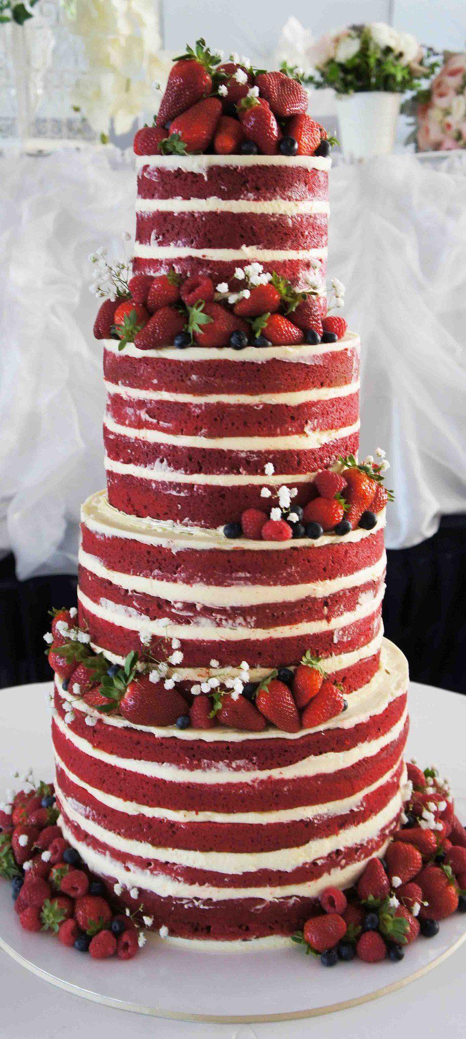 Wedding Cakes Red  Ruby wedding anniversary cake red velvet cake