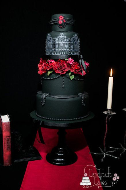 Wedding Cakes Red And Black  40 So Pretty Lace Wedding Cake Ideas