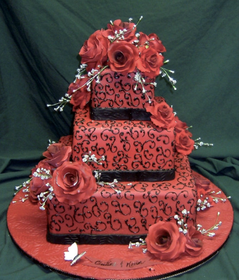Wedding Cakes Red And Black  Wedding Cakes Red and Black Wedding Cakes