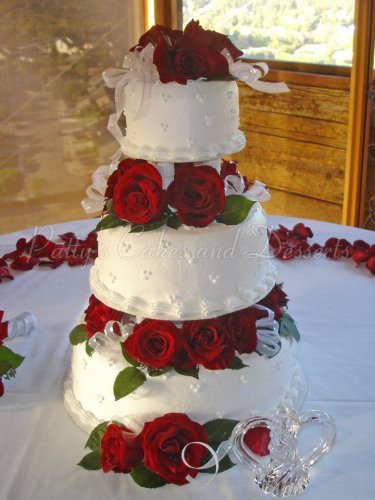 Wedding Cakes Red Roses  Red rose wedding cakes Archives Patty s Cakes and Desserts