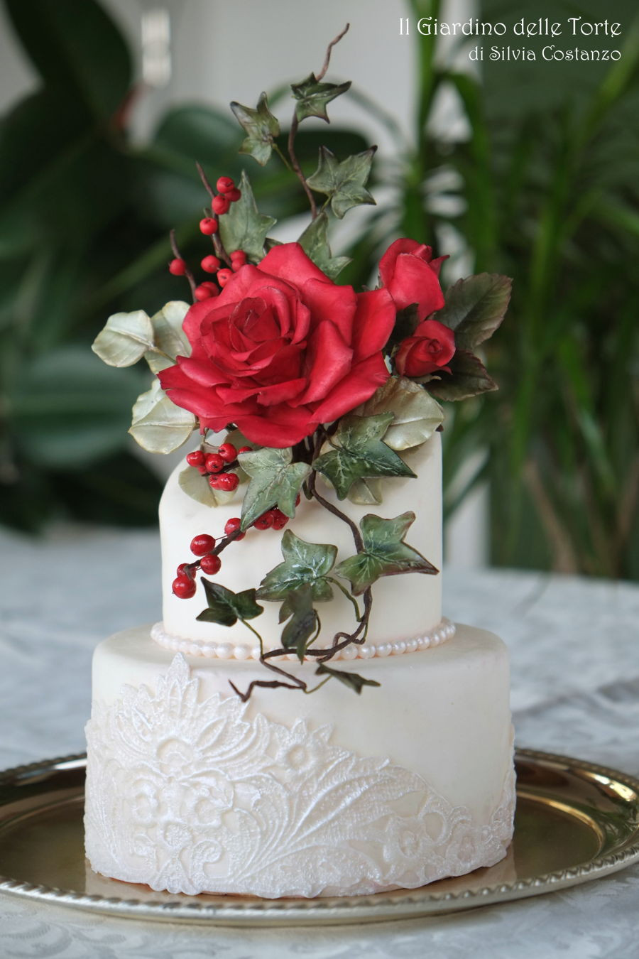 Wedding Cakes Red Roses  Red Rose Wedding Cake CakeCentral