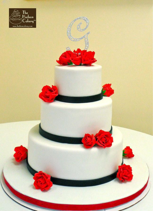Wedding Cakes Red Roses  Red Sugar Rose Wedding Cake Weddings
