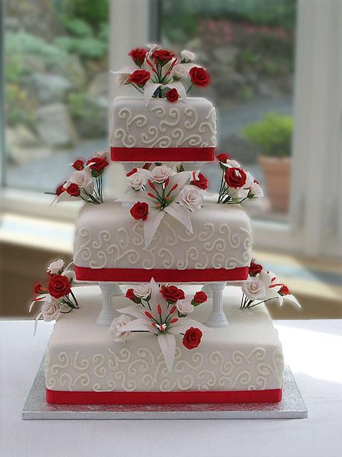 Wedding Cakes Red  Wedding Accessories Ideas