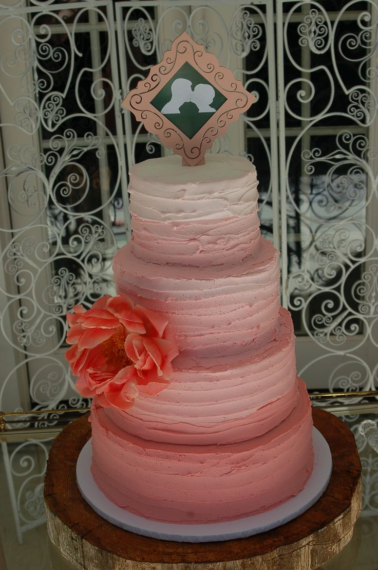 Wedding Cakes Redding Ca  Pink ombre wedding cake by Cake is the Best Part Redding