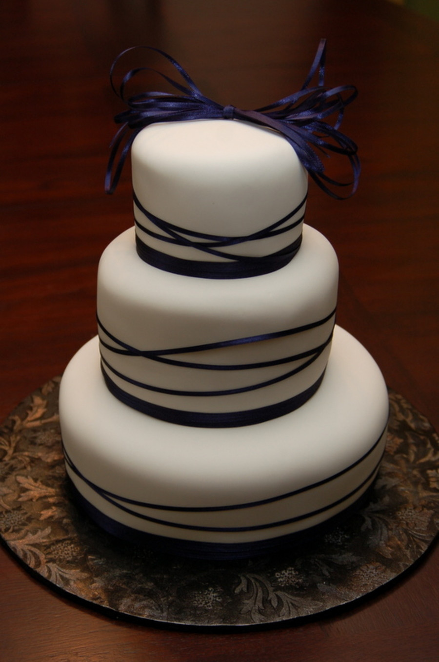 Wedding Cakes Ribbon  Ribbons Wedding Cake CakeCentral