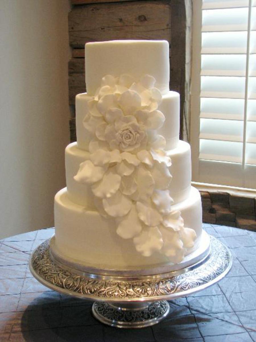 Wedding Cakes Rose  Cascading Rose Wedding Cake CakeCentral