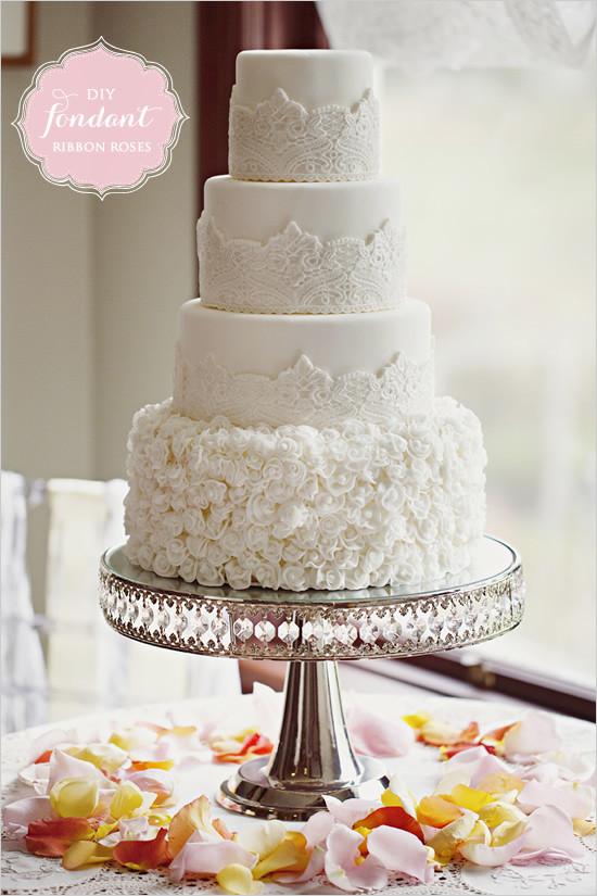 Wedding Cakes Rose  white roses wedding cakes