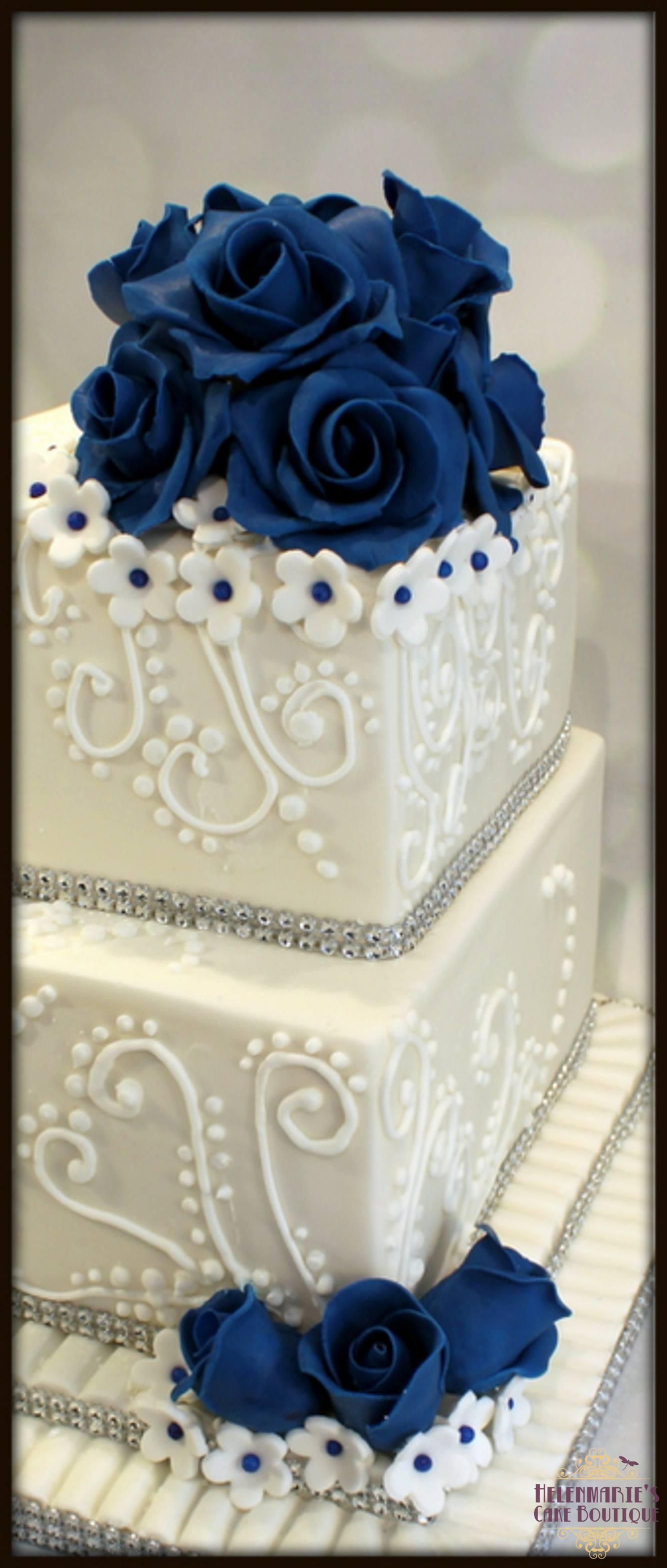 Wedding Cakes Royal Blue  Royal Blue Wedding Cake