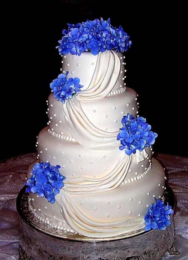 Wedding Cakes Royal Blue  Blue Wedding Cake Ideas