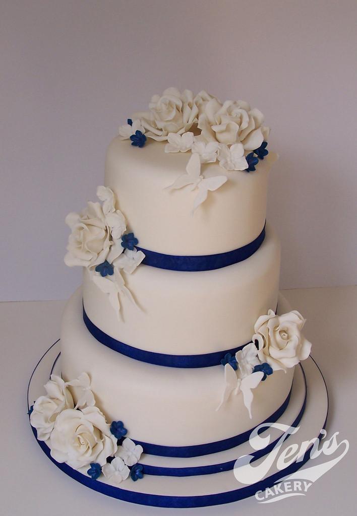 Wedding Cakes Royal Blue  Pin Ivory And Royal Blue Wedding Cake Flickr Sharing