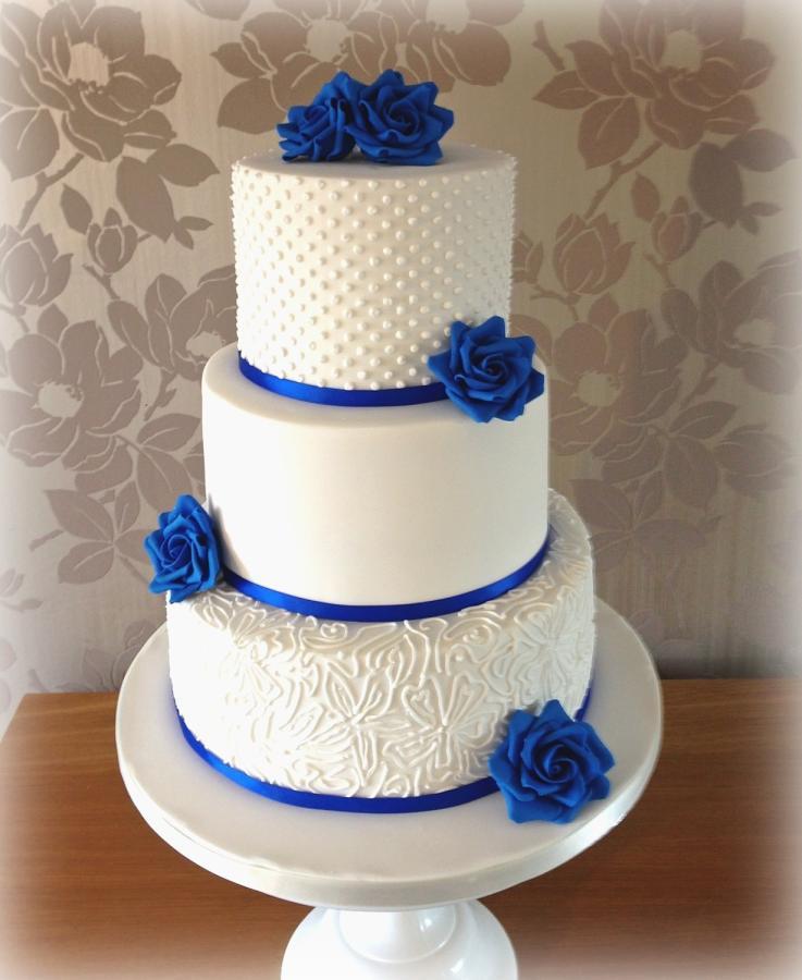 Wedding Cakes Royal Blue  Royal blue wedding cake Cake by Cakes by Sian CakesDecor