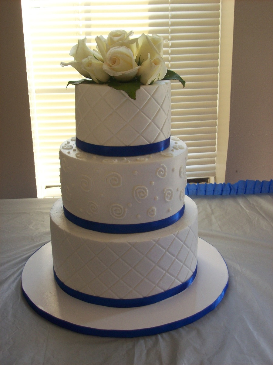 Wedding Cakes Royal Blue  Wedding Cake Royal Blue And White CakeCentral