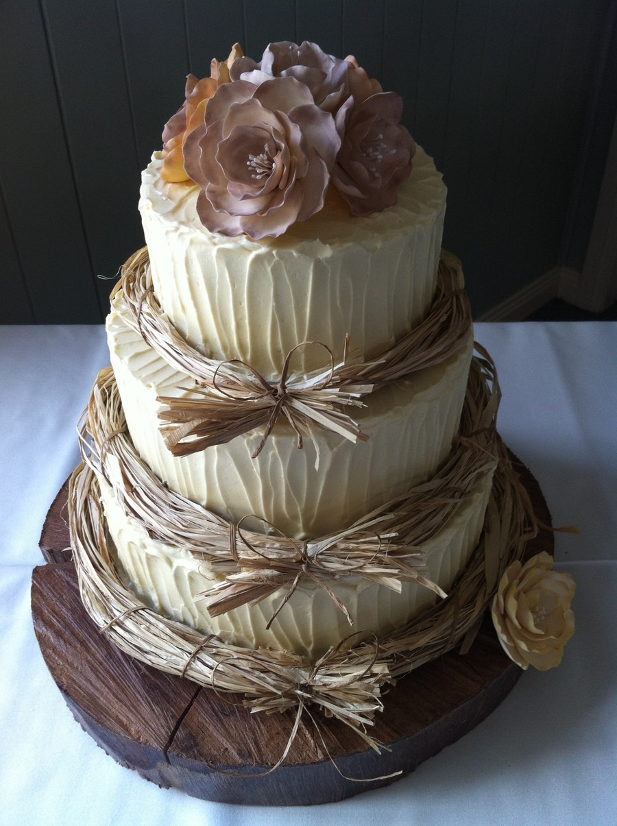 Wedding Cakes Rustic  Rustic Wedding Cake CakeCentral