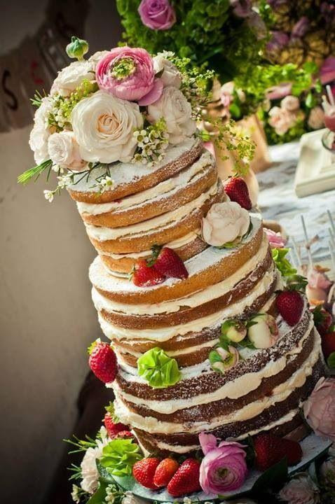 Wedding Cakes Rustic  Naked Wedding Cakes A Great Concept For A Rustic Wedding