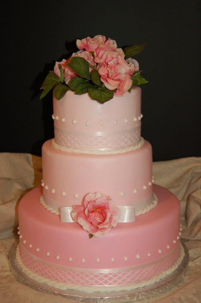 Wedding Cakes San Diego  Pink Lace Wedding Cake Yelp