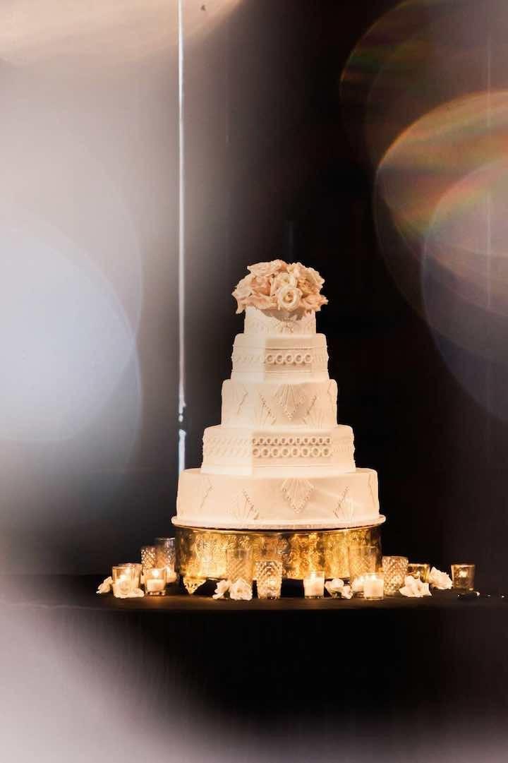 Wedding Cakes San Diego  Glamorous Gold and Black San Diego Wedding MODwedding