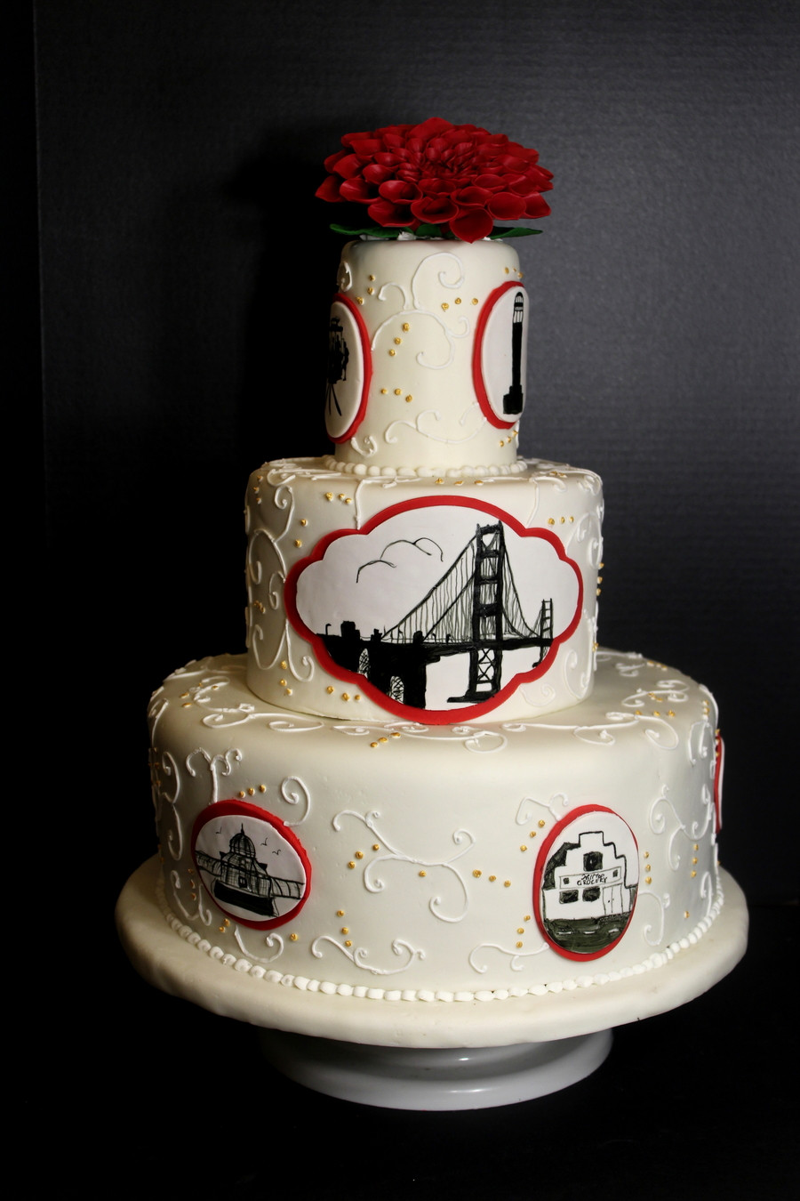 Wedding Cakes San Francisco  San Francisco Themed Wedding Cake CakeCentral