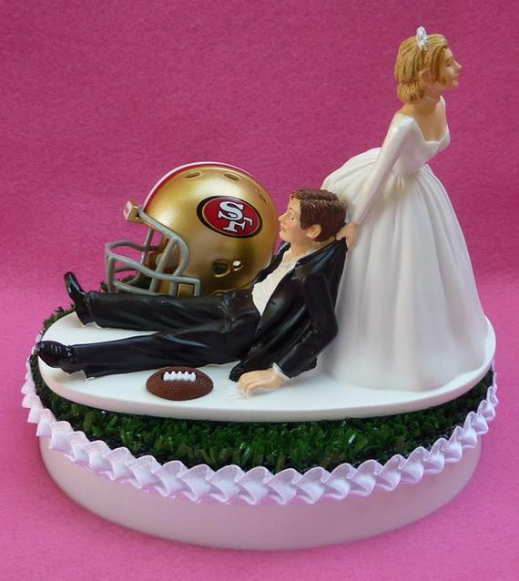 Wedding Cakes San Francisco  Wedding Cake Topper San Francisco 49ers SF Football Themed